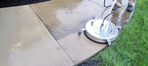 Concrete sidewalk power and pressure cleaning in College Station and Bryan TX.